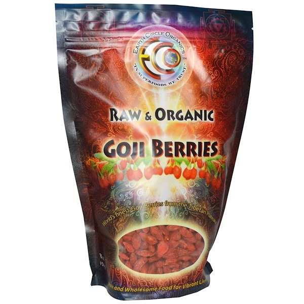 Earth Circle Organics, Goji Berries, Raw & Organic, 16 oz (454 g) (Discontinued Item)