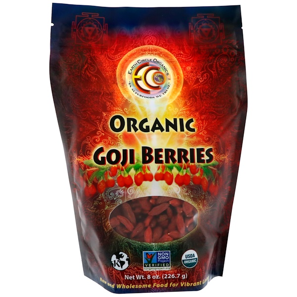 Earth Circle Organics, オーガニック ゴジベリー、8 oz (226.7 g) (Discontinued Item)