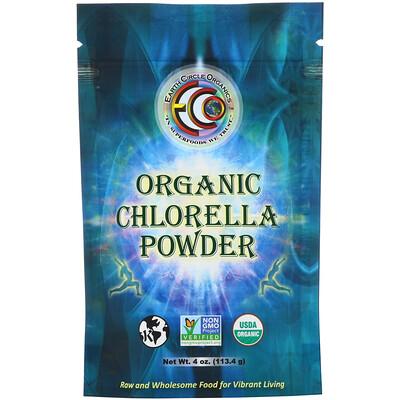 Earth Circle Organics Порошок из органической хлореллы, 113,4г (4унции)