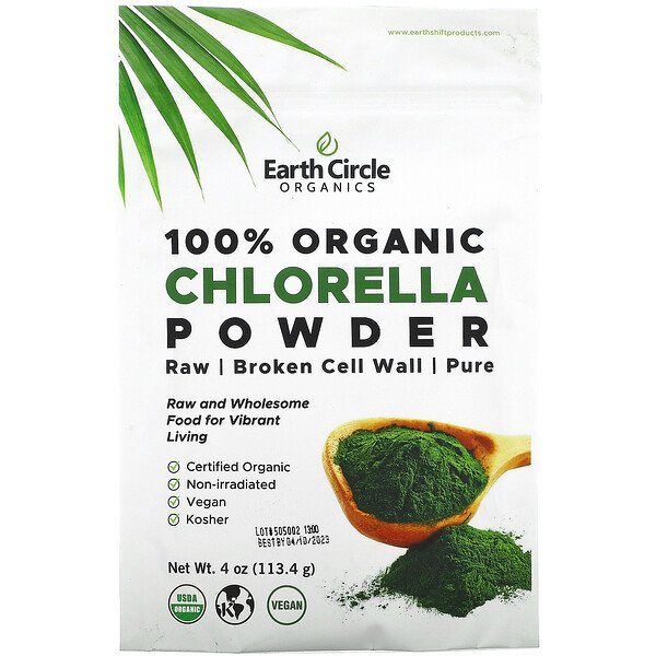 100% Organic Chlorella Powder, 4 oz (113.4 g)
