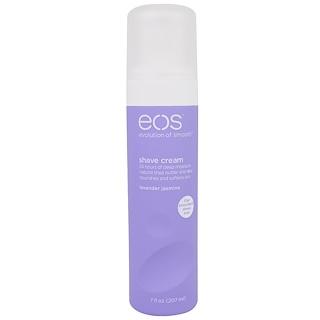 EOS, Crema para afeitar, lavanda y jazmín, 7 onzas fluidas (207 ml)