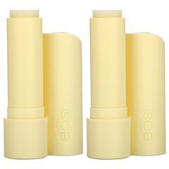 EOS, 有機全天然乳木果潤唇膏,香草豆,2 包,每包 0.14 盎司(4 克)