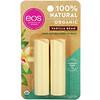 EOS, Balm Labial de Manteiga de Karité 100% Natural Orgânico, Fava de Baunilha, Embalagem com 2Unidades, 4g (0,14oz) Cada