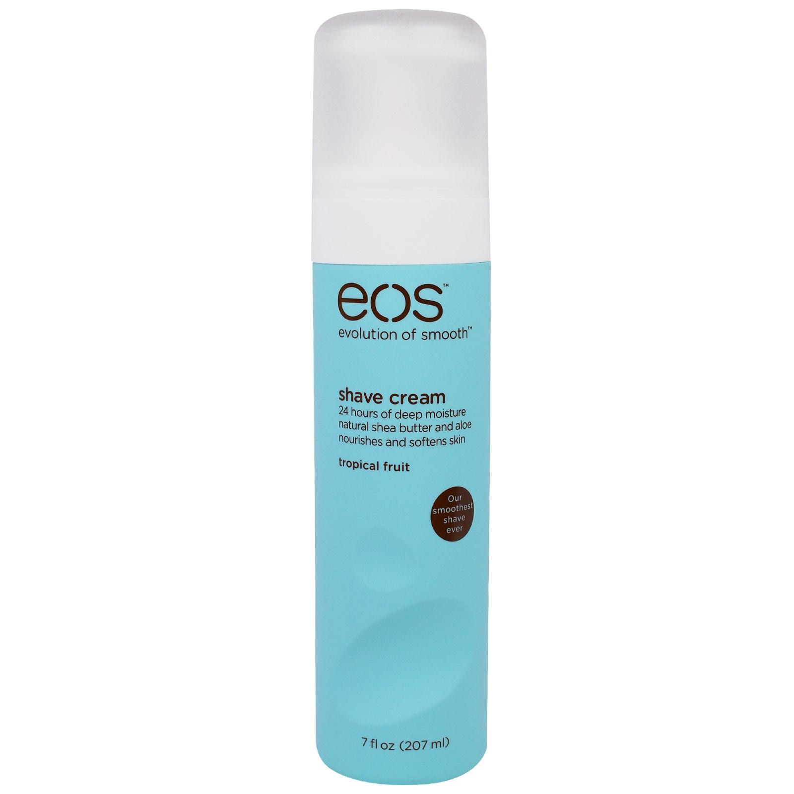 EOS, Крем для Бритья, Тропические фрукты, 7 жидких унций (207 мл)
