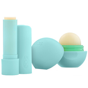 EOS, 100% Natural Shea Lip Balm, Lippenbalsam, Sweet Mint, 2Stück, 11g (0,39oz)