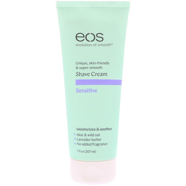 EOS, Shave Cream, Sensitive,  7 fl oz (207 ml ) (Discontinued Item)