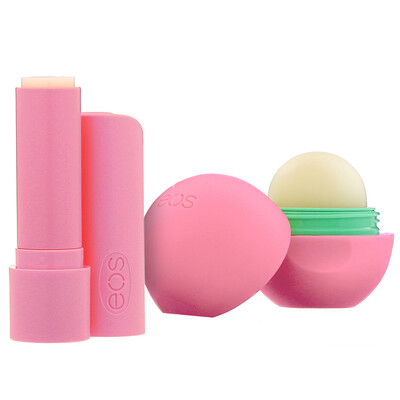 Купить EOS 100% Natural Shea Lip Balm, Strawberry Sorbet, 2 Pack, 0.39 oz (11 g)