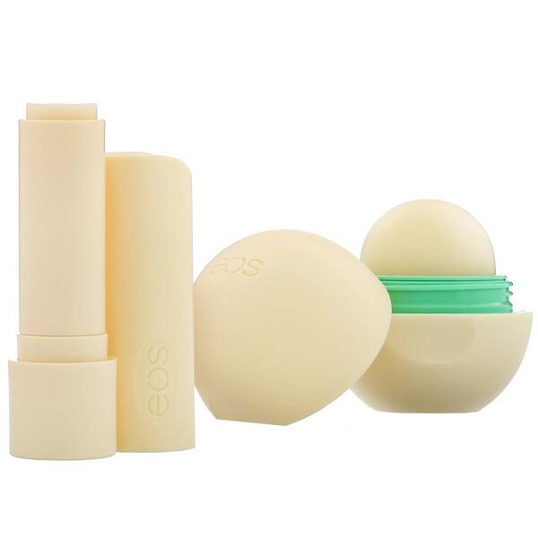 100% Natural Shea Lip Balm, Vanilla Bean, 2 Pack, 0.39 oz (11 g)