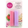 EOS, экстрасмягчающий бальзам для губ с маслом ши, клубника и персик, жареный зефир, 2упаковки, 4г (0,14унции) каждый