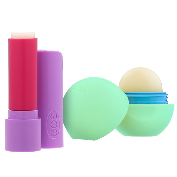 EOS, Super Soft Shea Lip Balm, Toasted Marshmallow & Triple Mint, 2 Pack, 0.39 oz (11 g)