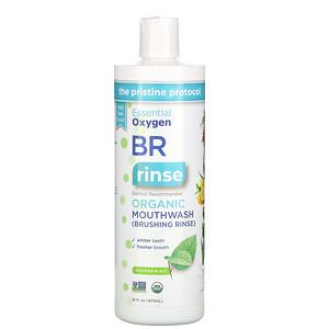 Эссеншл Оксиджин, BR Organic Mouthwash Brushing Rinse, Peppermint, 16 fl oz (473 ml) отзывы