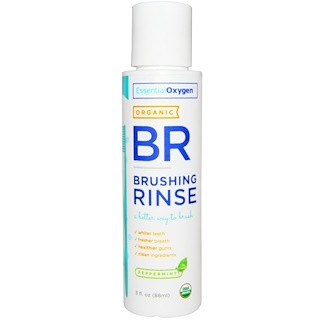 Essential Oxygen, Organic Brushing Rinse, Peppermint, 3 fl oz (88 ml)