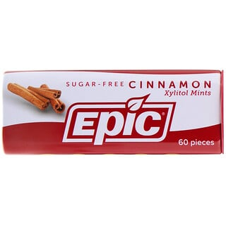 Epic Dental, Xylitol Mints, Cinnamon, Sugar-Free, 60 Pieces