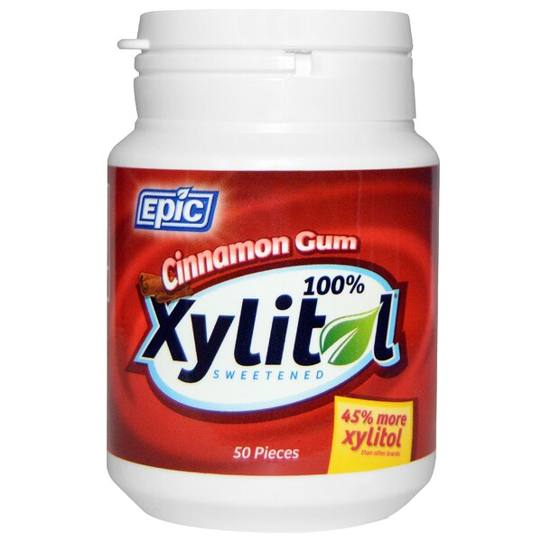 100% Xylitol Sweetened, Cinnamon Gum, 50 Pieces