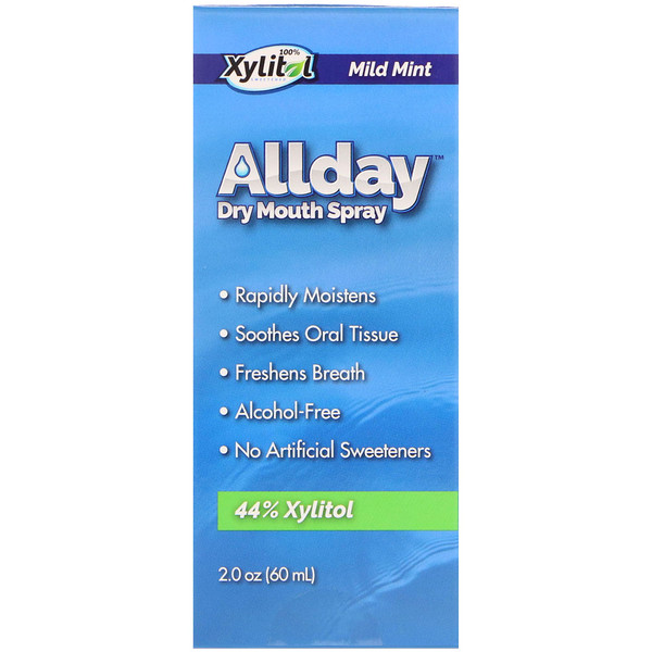 Epic Dental, Allday Dry Mouth Spray, Mild Mint, 2.0 oz (60 ml) (Discontinued Item)