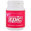 Epic Dental, Xylitol Gum, Sugar-Free, Bubblegum, 50 Pieces