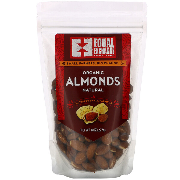 Organic Natural Almonds, 8 oz (227 g)