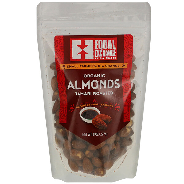 Organic Tamari Roasted Almonds, 8 oz (227 g)