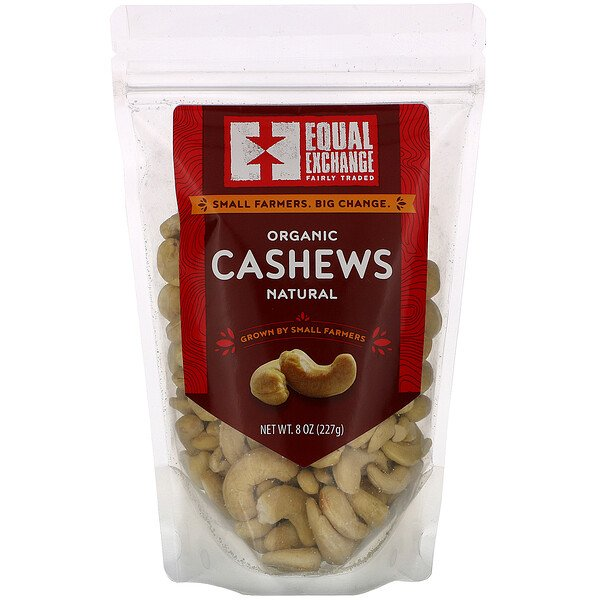 Organic Natural Cashews, 8 oz (227 g)