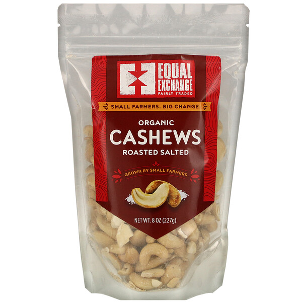 Equal Exchange, Organic Roasted Salted Cashews, 8 oz (227 g)