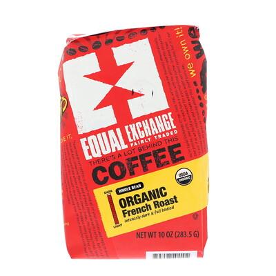 Equal Exchange Органический кофе, французская обжарка, цельное зерно, 10 унц. (283, 5 г)  - купить со скидкой