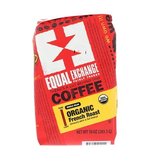 Equal Exchange, Organic, Coffee, French Roast, Whole Bean, 10 oz (283.5 g)