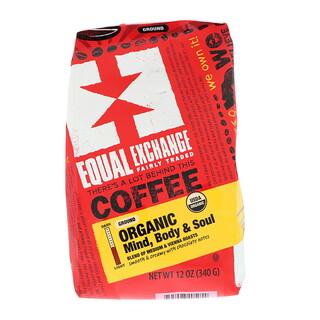 Equal Exchange, Органический кофе, разум, тело и душа, молотый, 12 унц. (340 г)