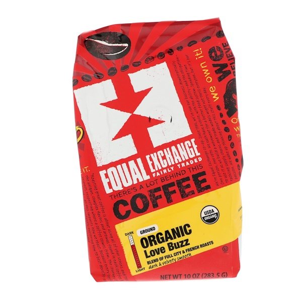 Equal Exchange, Bio, Café, Love Buzz, Moulu, 283,5 g (10 oz)