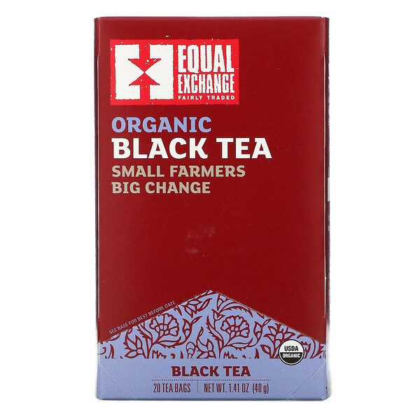 Organic Black Tea, 20 Tea Bags, 1.41 oz ( 40 g)