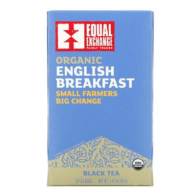 Купить Equal Exchange Organic English Breakfast, Black Tea, 20 Tea Bags, 1.41 oz ( 40 g)