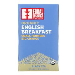 Equal Exchange, 有機英式早餐紅茶,20 包茶包,1.41 盎司(40 克)