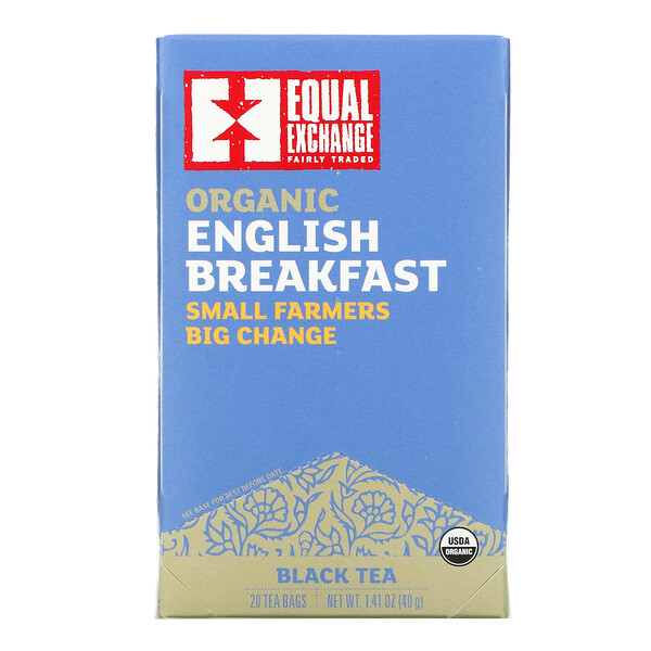 Organic English Breakfast, Black Tea, 20 Tea Bags, 1.41 oz ( 40 g)