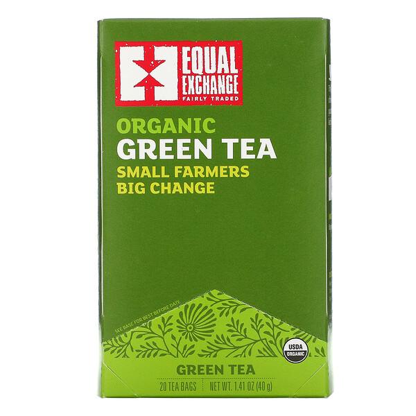 有機綠茶,20 茶包,1.41 盎司(40 克)