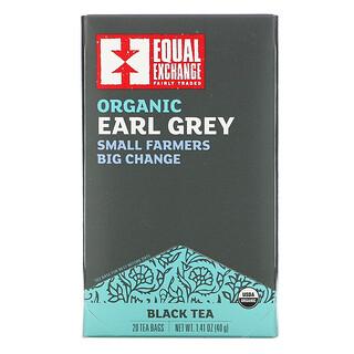 Equal Exchange, 有機格雷伯爵茶,紅茶,20 茶包,1.41 盎司(40 克)