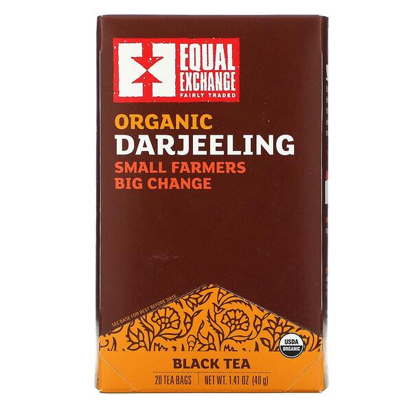Equal Exchange, Organic Darjeeling, Black Tea, 20 Tea Bags, 1.41 oz (40 g)