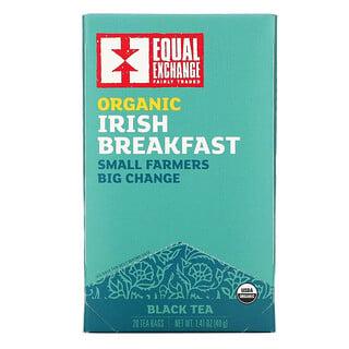 Equal Exchange, Organic Irish Breakfast, Black Tea, 20 Tea Bags, 1.41 oz (40 g)