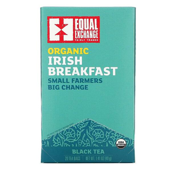 Organic Irish Breakfast, Black Tea, 20 Tea Bags, 1.41 oz (40 g)