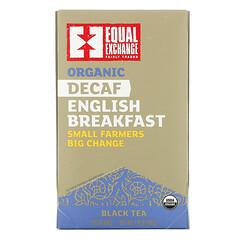 Equal Exchange, 有機無因英式早餐紅茶,20 包茶包,1.41 盎司(40 克)