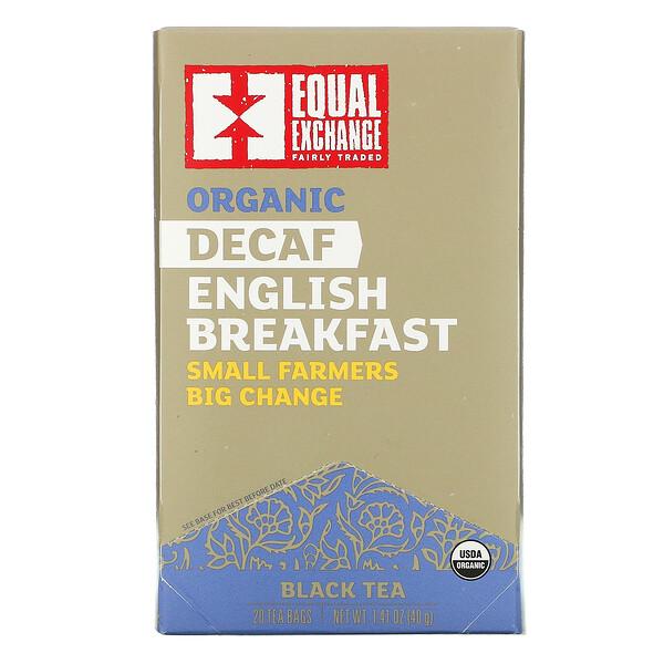 有机无因英式早餐红茶,20 包茶包,1.41 盎司(40 克)