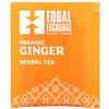 Equal Exchange, 有機生薑草本茶,無因,20 包茶包,1.05 盎司(30 克)