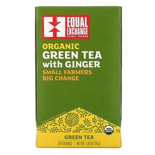 Equal Exchange, Organic Green Tea with Ginger, 20 Tea Bags, 1.05 oz (30 g)