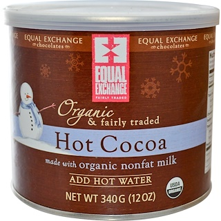 Equal Exchange, Organic & Fairly Traded Hot Cocoa, 12 oz (340 g)