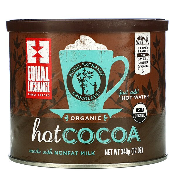 Equal Exchange, Chocolate Quente Orgânico, 12 oz (340 g)