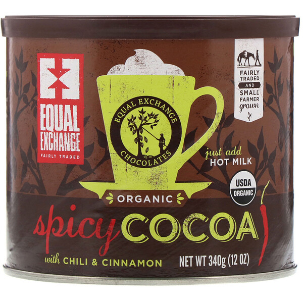Organic Spicy Cocoa with Chili & Cinnamon, 12 oz (340 g)