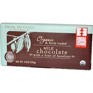Икуал Эксчэндж, Organic Milk Chocolate with a Hint of Hazelnut, 3.5 oz (100 g) отзывы