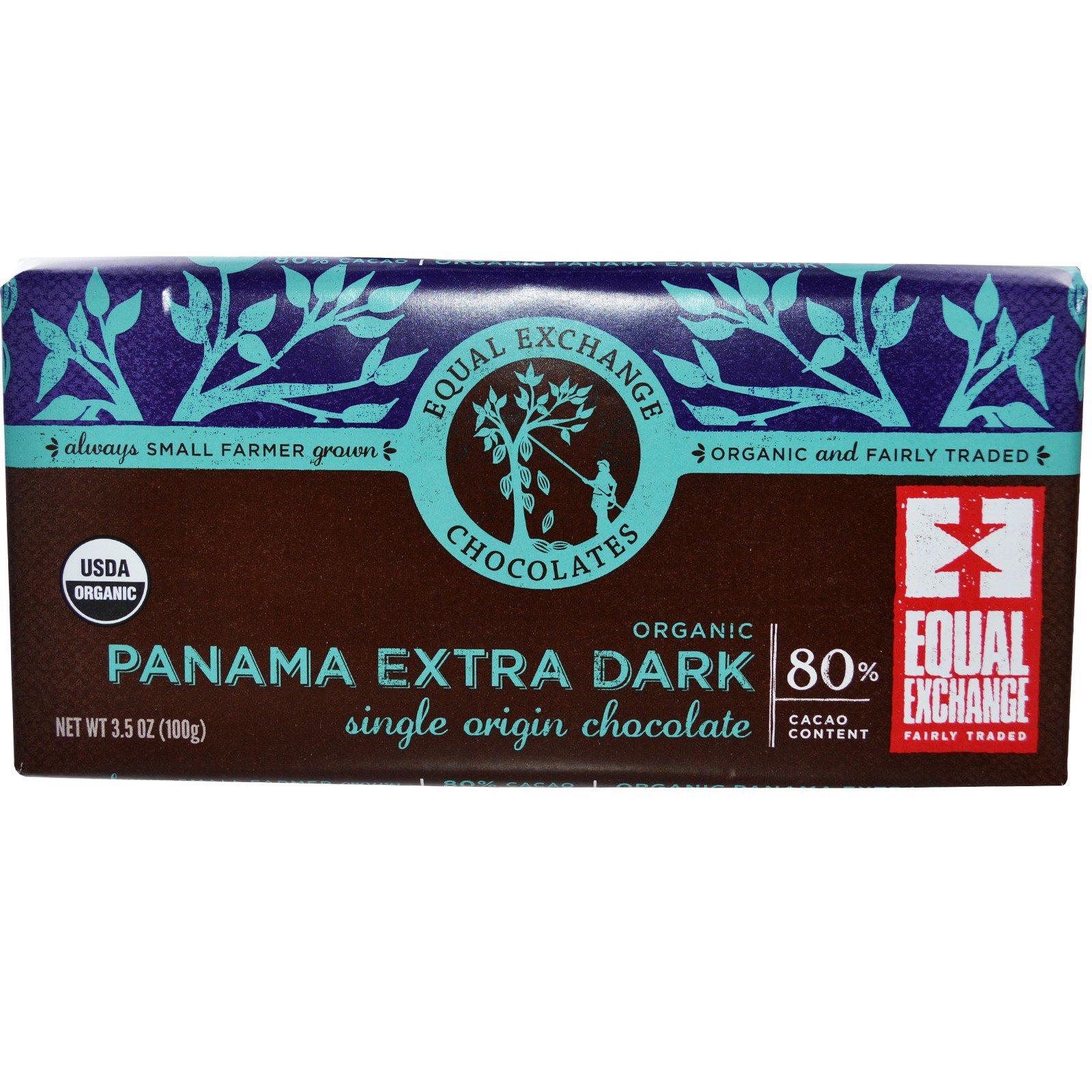 Equal Exchange Organic Panama Extra Dark Chocolate 3 5 Oz 100 G