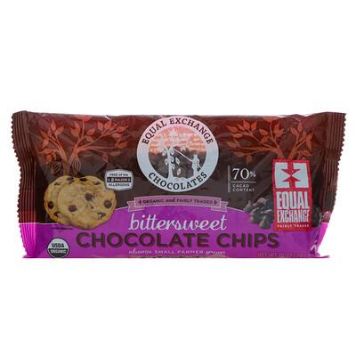 Equal Exchange Organic, Chocolate Chips, Bittersweet, 70% Cacao, 10 oz (283.5 g)  - купить со скидкой