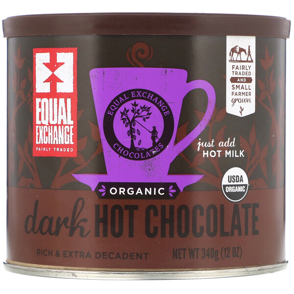 Organic Dark Hot Chocolate, 12 oz (340 g)