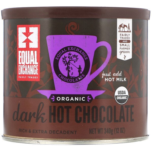 Equal Exchange, Organic Dark Hot Chocolate, 12 oz (340 g)