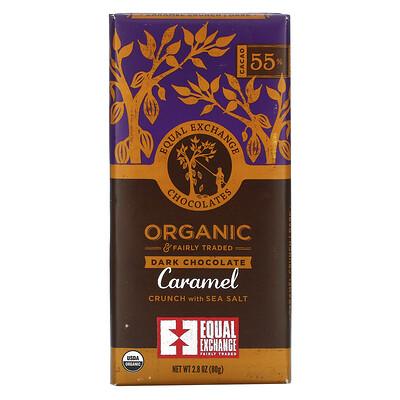 Купить Equal Exchange Organic, темный шоколад, карамель и морская соль, 55% какао, 80г (2, 8унций)
